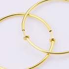 50mm Wide Non- Piercing Spring Hoops Clip on Earrings Round Wire Excellent Quality Thin Spring Clip Hoop Earring