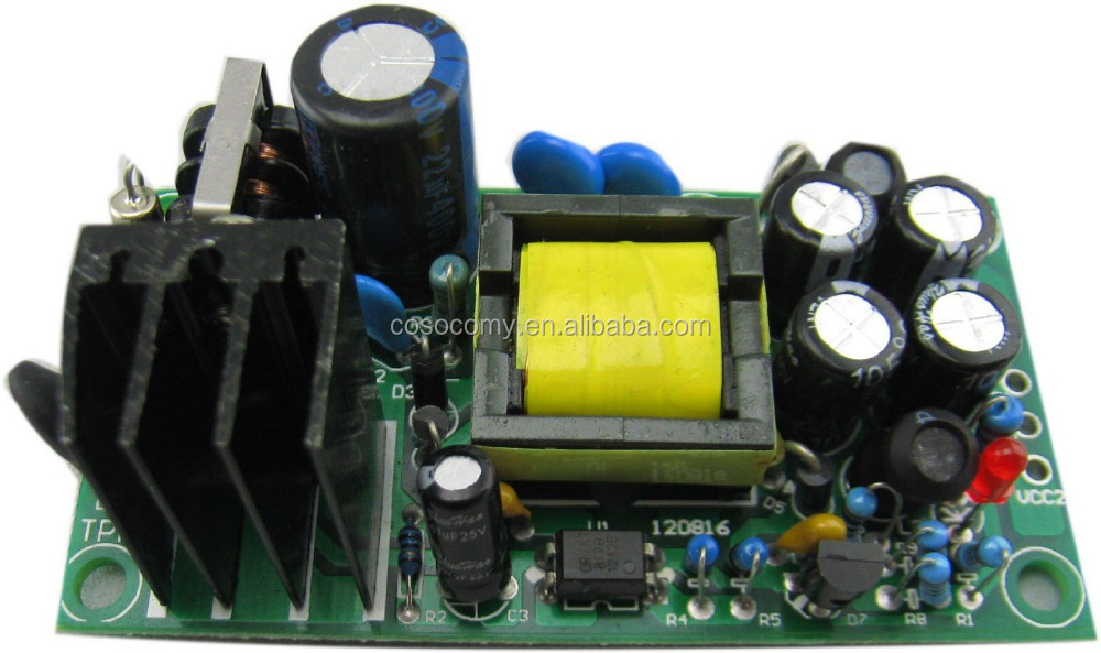 AC to DC Converter 85-265V to 12V 1200mA/5V 500mA Isolated Built-in Industrial Switching Power Supply Board Module