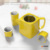 OEM and ODM square red ceramic teapot chinese tea set with stainless steel infuser tea cup and teapot set