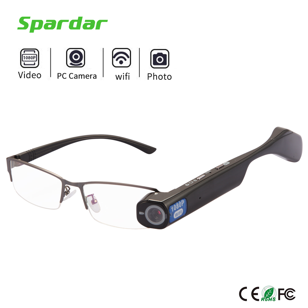 Wireless HD 1080P 720P Resolution Camera Recorder Glasses with Mobile Connectivity