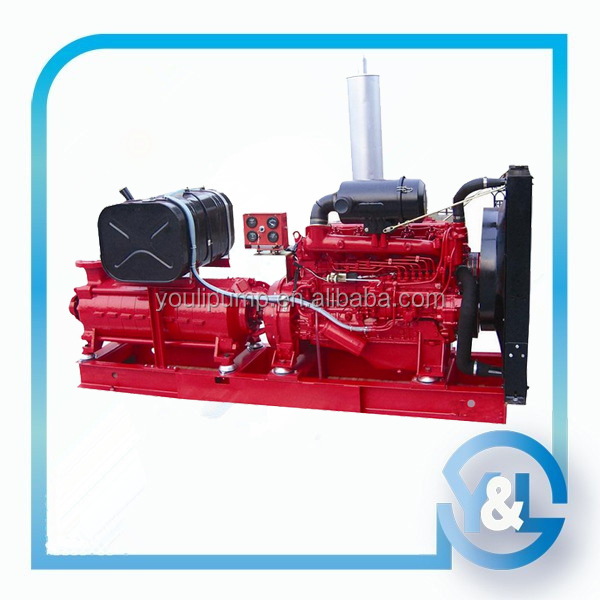 High pressure multistage firefighting water pump