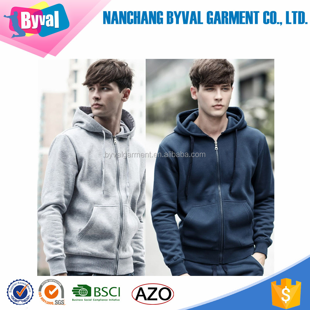 China factory high quality OEM new design custom logo sweatshirts hoodies with hood zip up