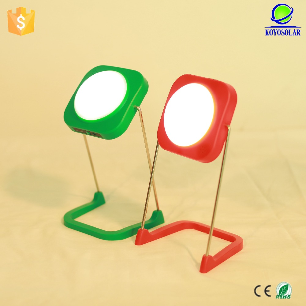 creative holiday gift for friends solar table lamp with usb and fm radio