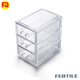 LMJ 423383 Plastic 3 Drawers Storage Box Cosmetic Organizer