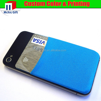 custom cheap stretchy lycra cell phone sticker card holder - Phone Card Holder Custom