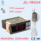 ZL-7830A, 30A, relay, 100-240Vac, Digital, Humidity Controller, Hygrostat, Humidistat, Lilytech, optional Sensors, DHC-100+
