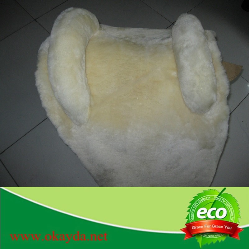 Luxury Real Natural Sheepskin Horse Saddle