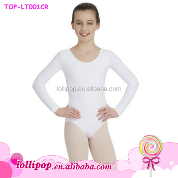f3451290c8a0 Wholesale White Long Sleeve Dance Rhythmic Gymnastics Leotard For ...