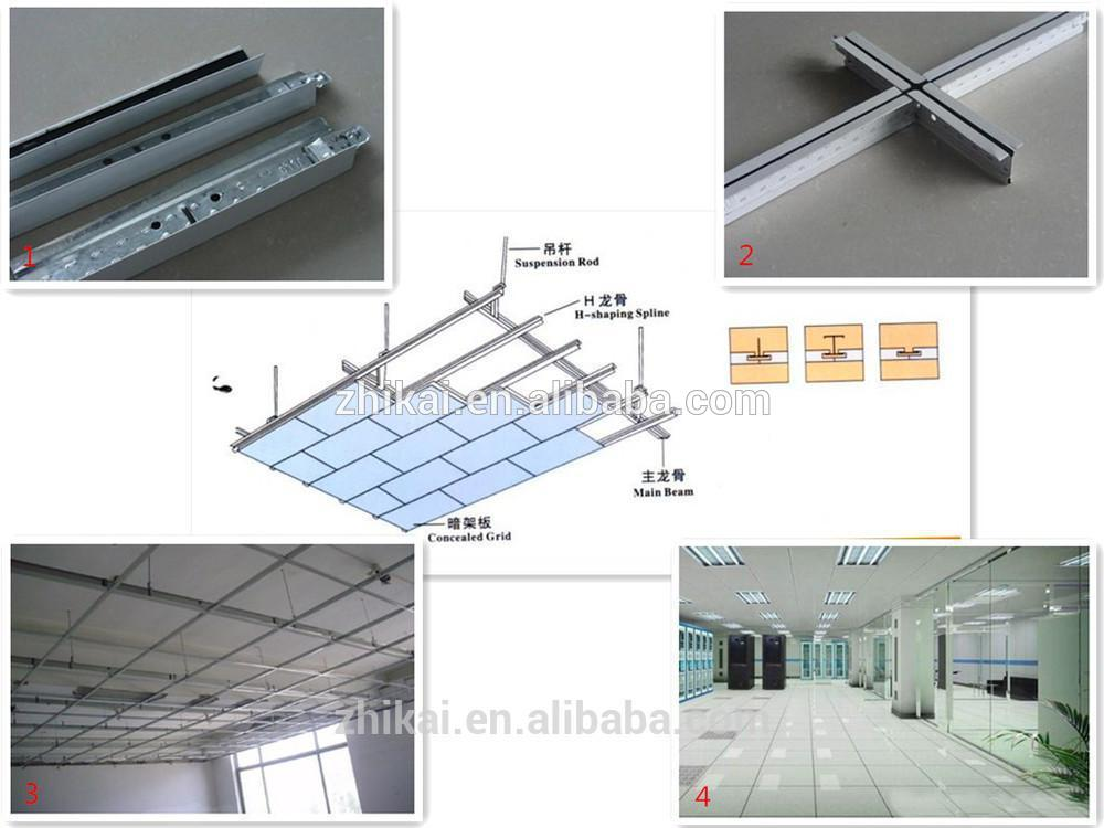 False Ceiling Suspension System Wall Angle/ White 3D Suspended Ceiling Grid