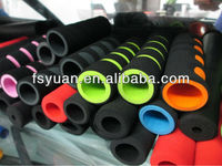 "1/2"" 1"" 2"" 3"" 4"" 5"" 6"" inch custom soft black sports fitness rubber foam tube handles grips colored rubber foam grips"