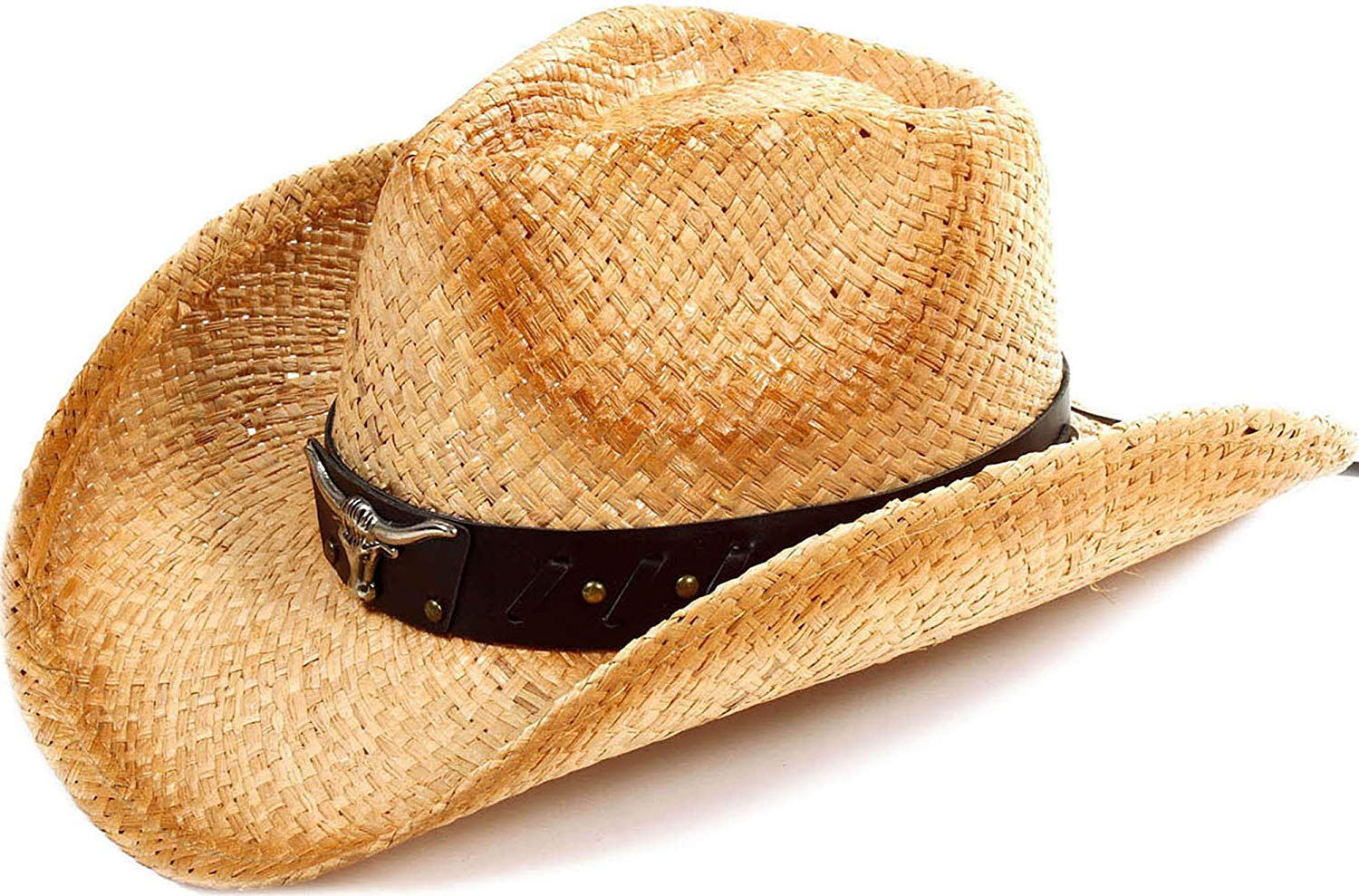 601a7606cce Get Quotations · Toppers Kids Boys Girls Summer Sun Hat Wide Brim UV  Protection Straw Cowboy Hat