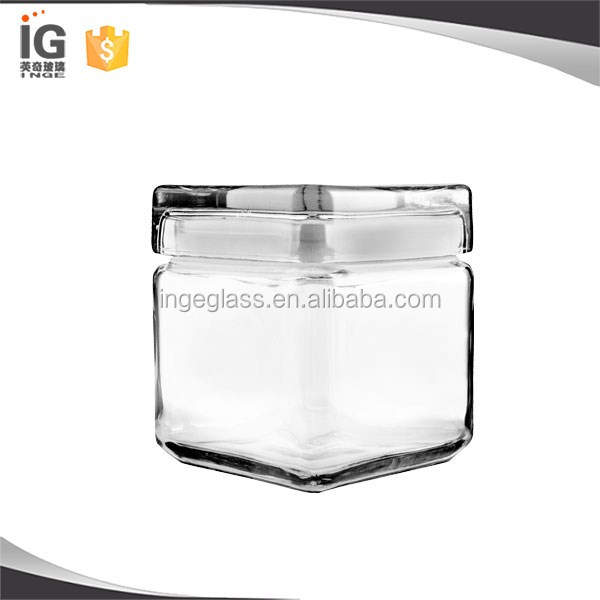 Anchor Hocking Square Stackable Jar w/ Glass Lid