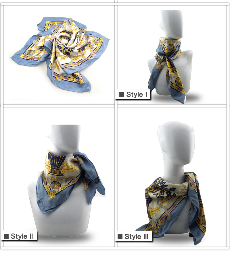 Jointop 2017 lady various color logo printing digital print 100% silk scarf