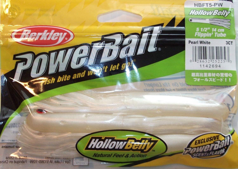 Berkley Powerbait Pulse Shad Gummifisch 4 St 8CM Pearl White Top Soft Bait Sha
