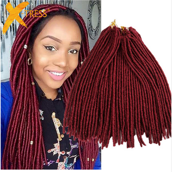 Hair Products 18 Synthetic Soft Dread Crochet Braids Faux Locs