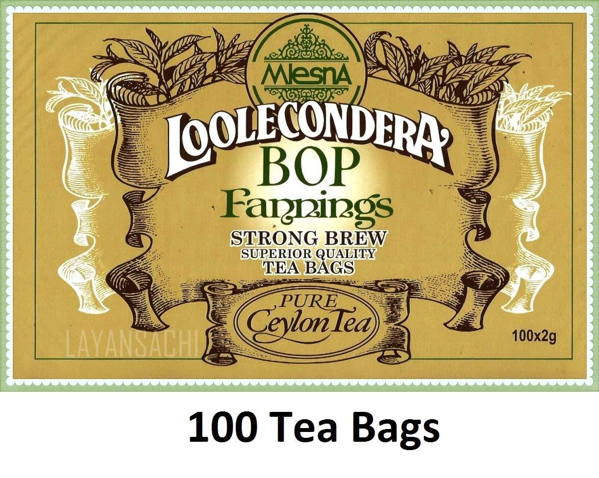 Mlesna Loolecondera BOP Fannings Strong brew Pure Ceylon black tea 200g [7.05 OZ] (100 Tea Bags x 1)