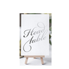 Custom calligraphy table cards for wedding/ table number gold foil stamping wedding card