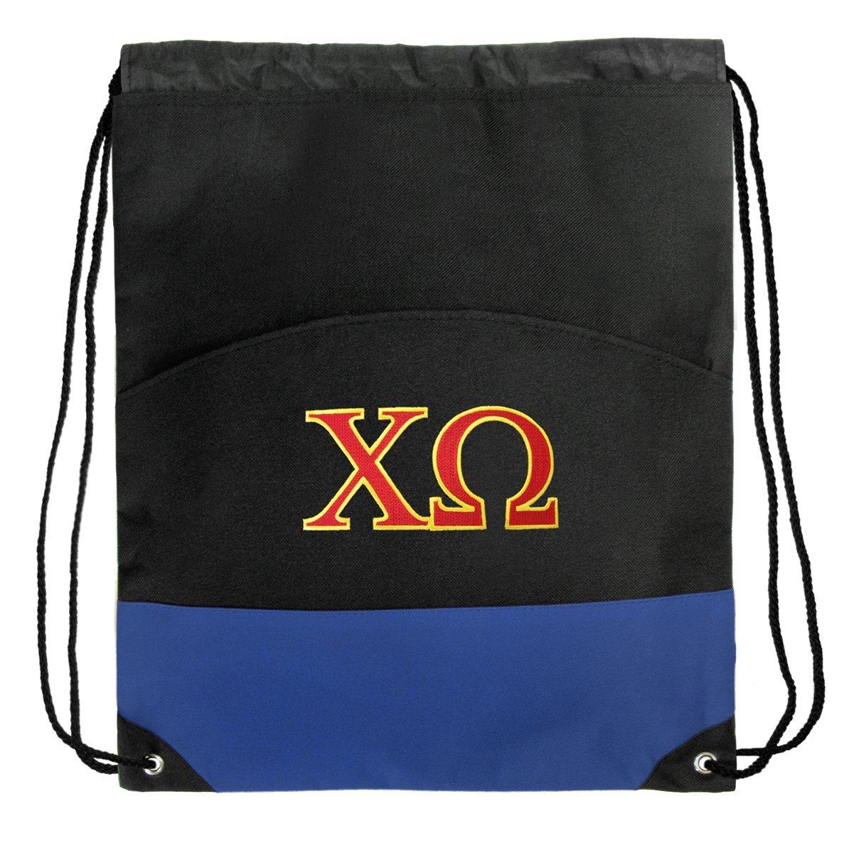Chi Omega Drawstring Backpack Chi O Sorority Cinch Bag