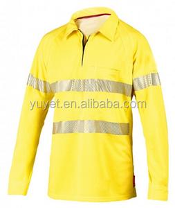 High quality long sleeve Men's t-shirt polo shirt 100% cotton work shirts