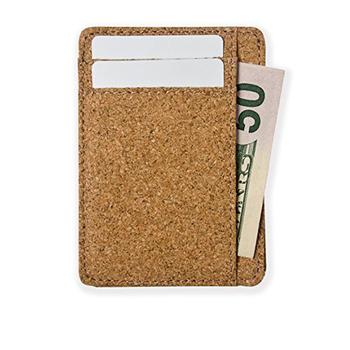mens custom front pocket mini small leather rfid blocking credit card holder slim minimalist wooden vegan - Small Credit Card Holder