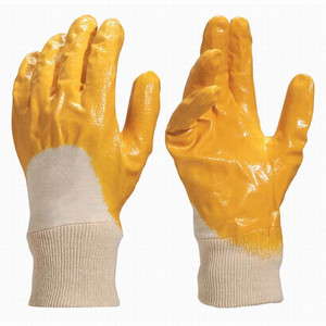 Labour protection glove synthetic nitrile coated gloves work