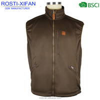 Men Hunting Clothes Bonded Fleece Outdoor Forest Vest with Zipper