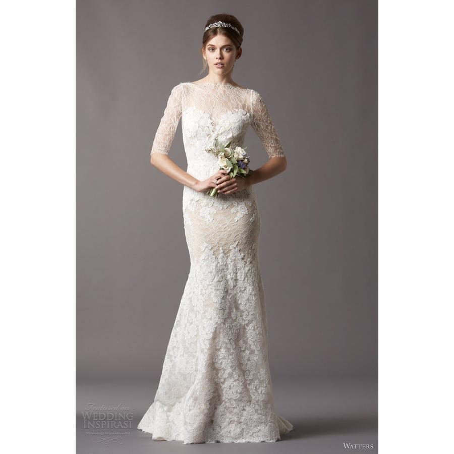 Aliexpress Com Buy Elegant Flare Sleeve Wedding Dress: W178 Elegant Mermaid Church Half Sleeve Bridal Gown Long