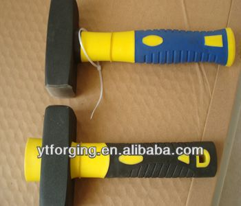 new stone breaking hammer with double rubber handle