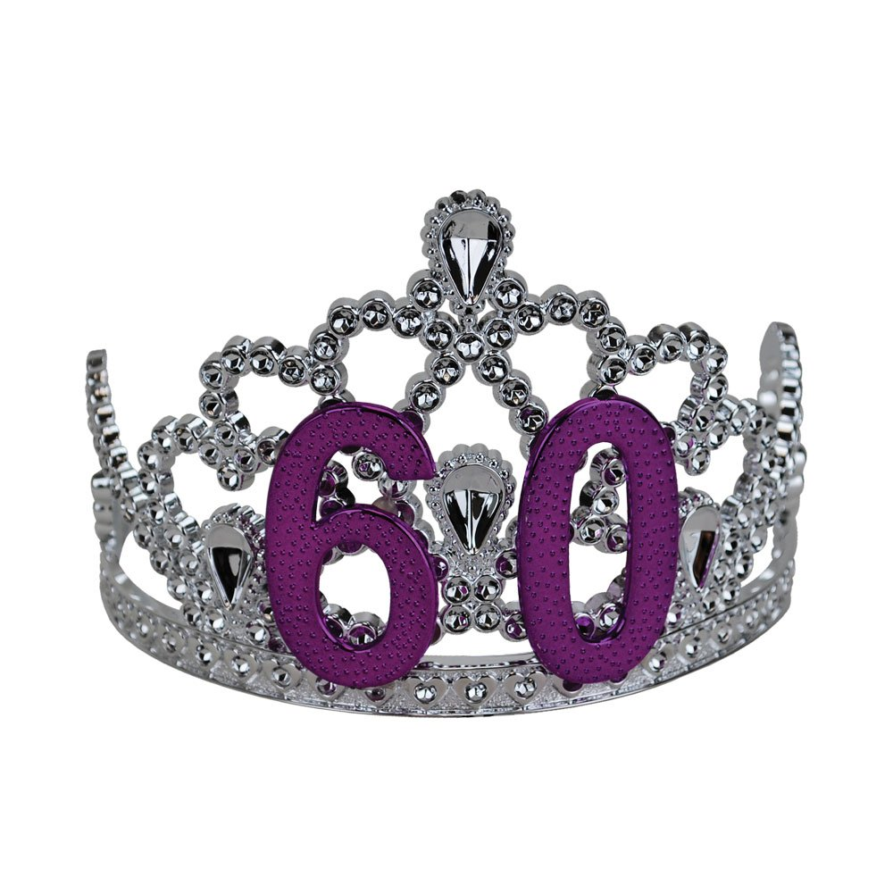BigMouth Inc 60th Birthday Silver Tiara