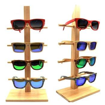 дерево подставки для стаканов для 4 очков мода подставка для солнцезащитных очков бамбуковый держатель съемная полка Buy дерево подставки для