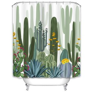 New Custom Printed Shower Curtains For Bathroom  ,Cactus Pattern Polyester Shower Curtain/