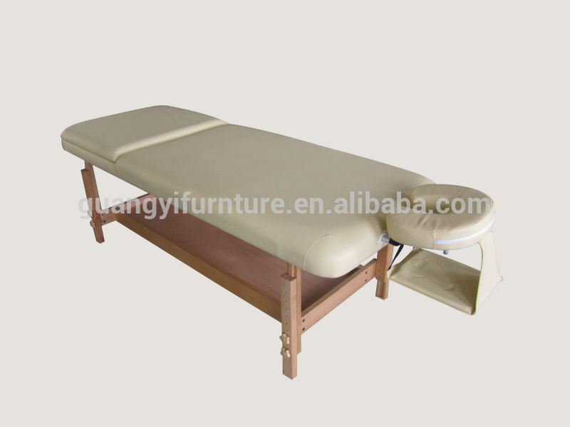 Stationary wooden adjustable massage/spa bed/table-masa de masaj lettino da massaggio