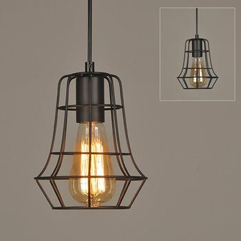 Industrial Loft Retro Black Metal Cage Chandelier Pendant Light
