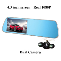 2016 NEWEST Bluetooth car DVR 4.3 inch screen rear view mirror camera Full HD 1080P