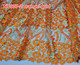 NC007-2 orange and gold embroidered tulle lace trim