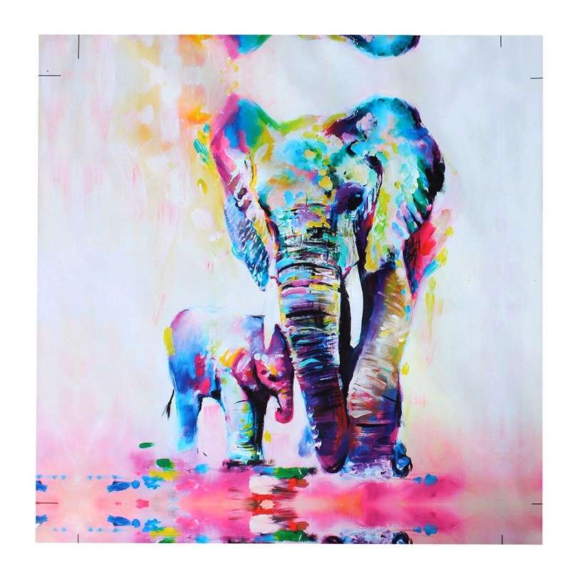 Unframed Canvas Prints Wall Paintings Modern Home Decor Abstract Wall Art Picture Animal Elephant Bedroom Livingroom Setting