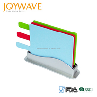 LFGB FDA Certification index colorful chopping cutting board set with stand