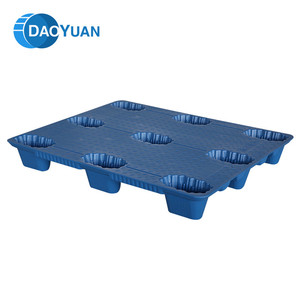 Professional design grid stacking hdpe euro single faced plastic pallet