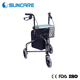 Steel 3 Wheel Rollator Walker With Seat for disabled