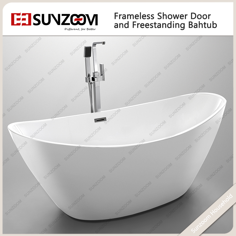 Sunzoom Upc Cupc Certified Soaking Two Person Couples Freestanding Bathtub Pr