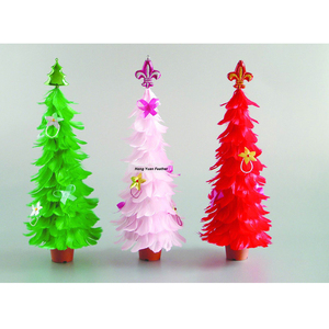 Manufacturer FT-8 Goose Coquille Feather Tree With Plastic Pots/ 12-24inch Customized Tree Decoration For Christmas