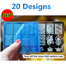 21 Patterns Stainless Steel Nail Art Stamping Plates Nail seal Manicure Polaco Printer Tool Templates Nail Stamp Stencils BN034