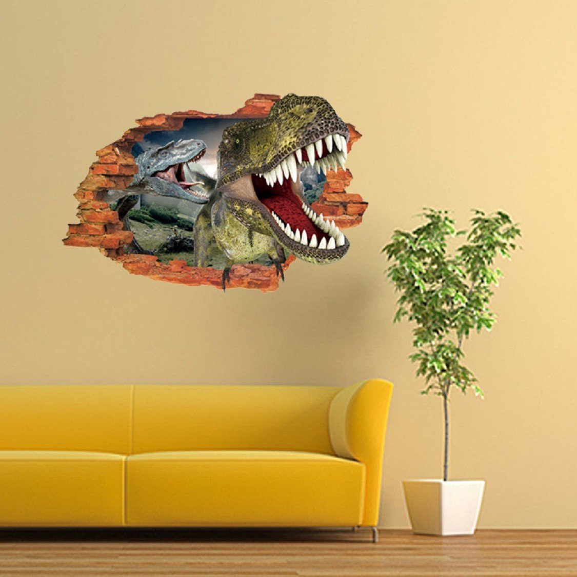 3D Dinosaur Wall Sticker,Ikevan 50x70cm Dinosaur Waterproof Environmental Protection PVC Sticker Stereoscopic Wall Decals Sticker Home Wall Decor Gifts Colorful
