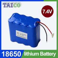 3.7v single cell 18650 7.4v 10000mah rechargeable battery