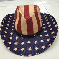 New Arrival Original American Flag Cowboy Hats