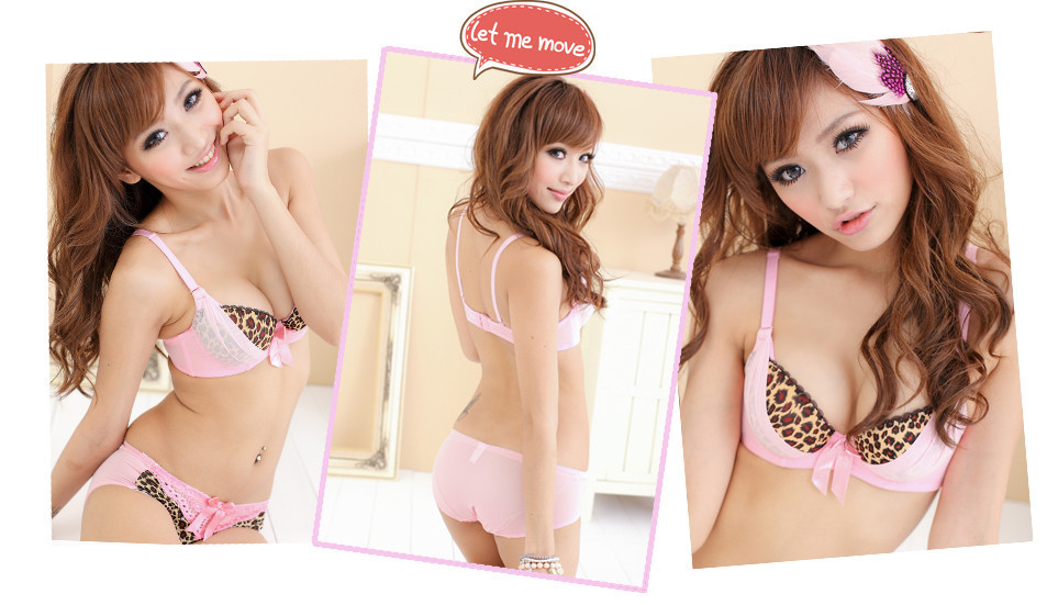 90400c959 Mujeres japonesas recoger pequeña señora ajustable V sexy leopardo pecho  cubierta algodón estudiante ropa interior sujetador 9935 # envío gratis