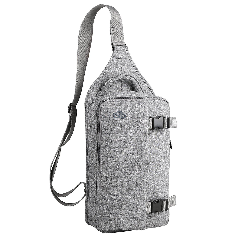 Zpoint Fashionable Messenger Bag Shoulder Bag Travel Daypack for 10 Inch Laptop, Tablet, Macbook, Notebook, Ultrabook(5301Light Grey)