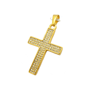 Olivia Wholesale New Fashion Punk Lucky Cubic Zirconia Ethiopian Cross Jewelry Christian Cross Pendant