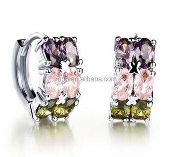 18k gold plating women stud earring free shipping