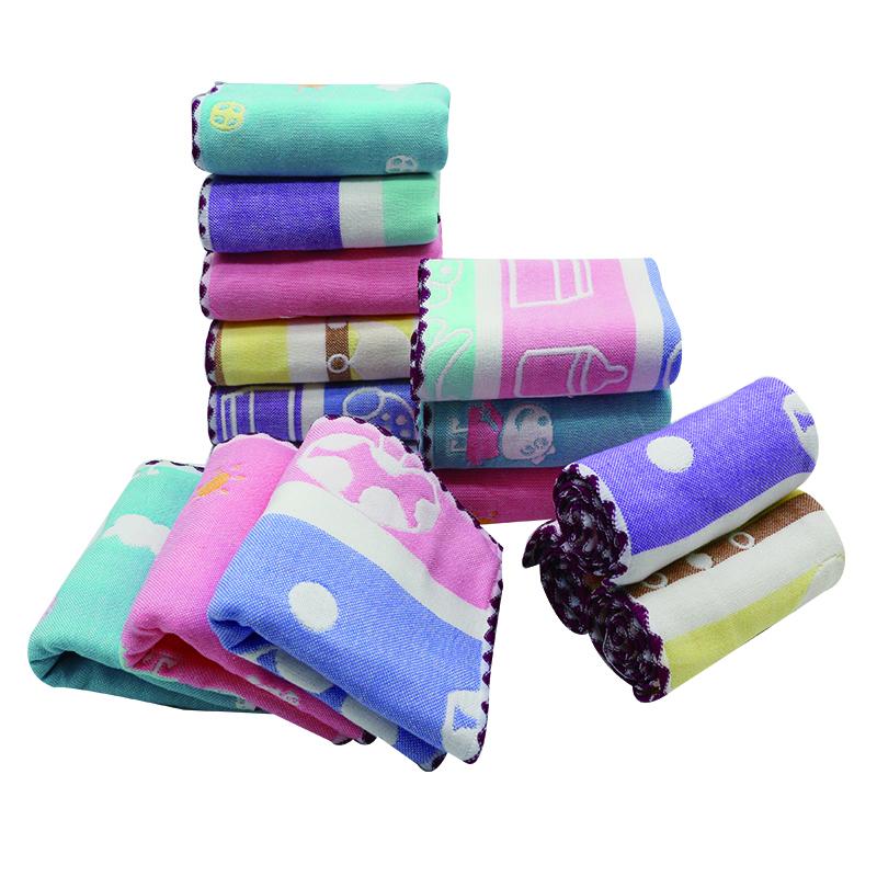 Wholesale Best Cotton Gauze Baby Towel With Beautiful Jacquard Cotton Face Towel